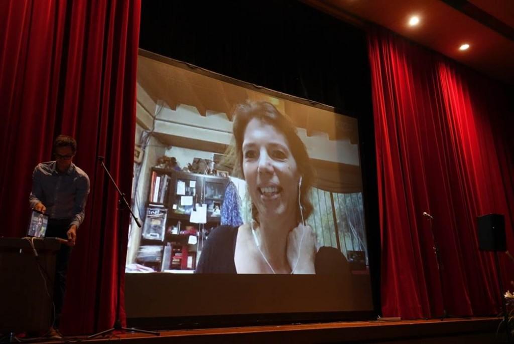 Dank einer Skype-Schaltung konnte Nicole Wick Thakuri live aus Kathmandu berichten